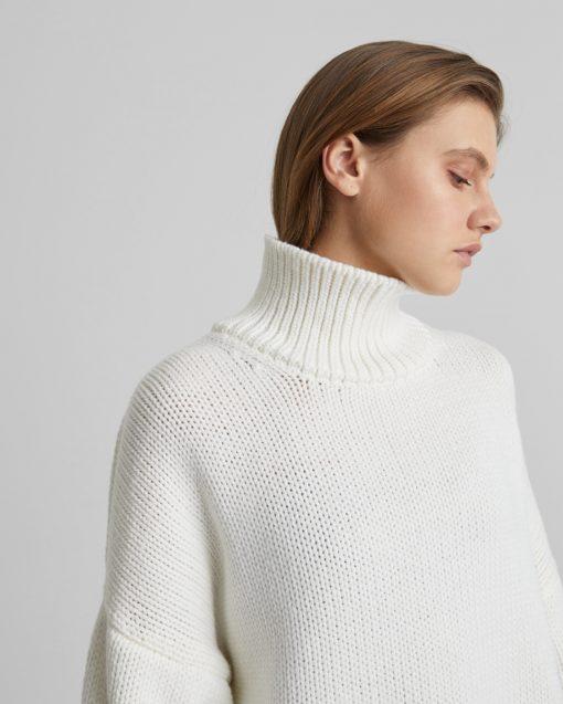 Белый свитер-оверсайз для будущих мам Grayson