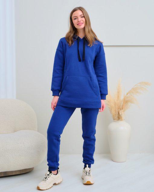 Темно-синие теплые брюки для будущих и кормящих мам Sport