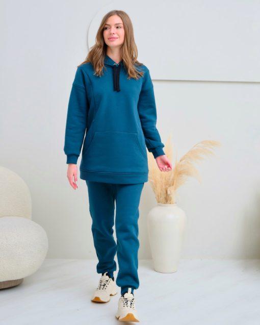 Изумрудные теплые брюки для будущих и кормящих мам Sport