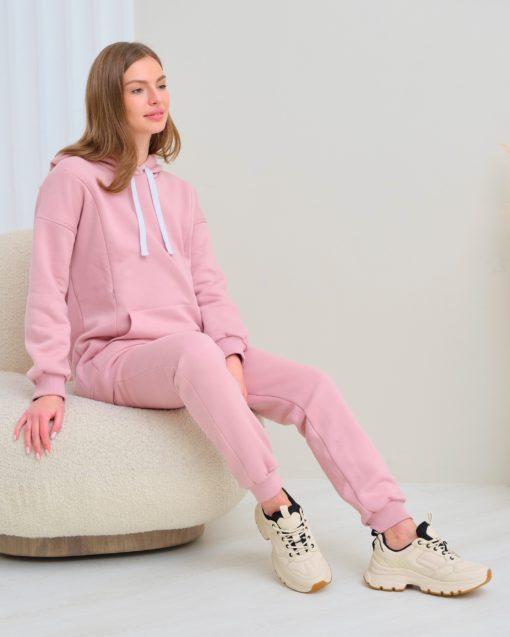 Пудровые теплые брюки для будущих и кормящих мам Sport